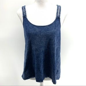 Mossimo Denim Braided Double Strap Tank Top